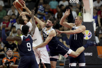 The US lost their second game in as many days at the basketball World Cup.