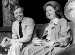 Lady Elizabeth Anson, a cousin of the Queen, and her husband, Sir Geoffrey Shakerley, in Sydney in 1978.