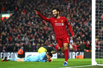 Mohamed Salah capped off the win for the Reds.