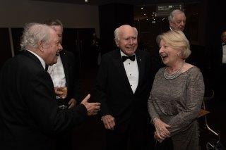 John and Janette Howard arrive at the Sydney Institute dinner in 2019.