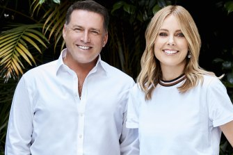 Ally Langdon, right, joined Karl Stefanovic on Nine's Today program in January.