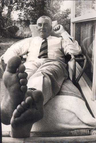 Gough Whitlam at home in Albert Street, Cabramatta, in 1970.