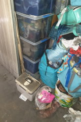 Some of Deborah West's items stored at Brookvale's Rent a Space, which were disposed of after the fire.