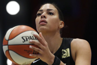 Liz Cambage is among the players included in a new version of basketball video game NBA 2K.