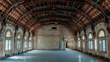 One of the photos of the Flinders Street Station ballroom that Daniel Andrews shared last week, taken in March.