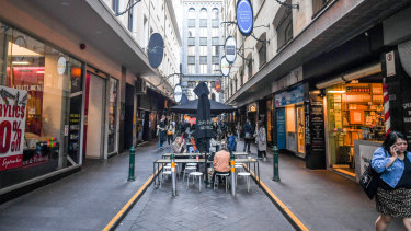 Businesses say the closure of part of Flinders Street is hitting them hard.