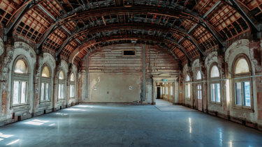 One of the photos of the Flinders Street Station ballroom that Daniel Andrews shared this week, taken in March.