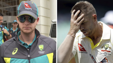 Stood down from leadership positions: Steve Smith and David Warner