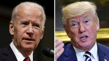 Jo Biden and Donald Trump.