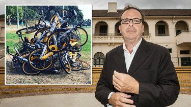 Waverley mayor John Wakefield vows to impound wayward share bikes around the eastern suburbs.