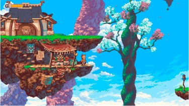 Owlboy's colourful world is a delight to explore.