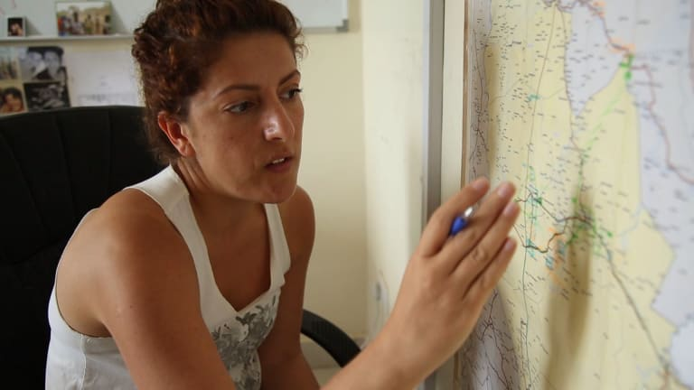 Perth woman Dorsa Nazemi-Salman tries to work out where fighting will be in what was Jonglei state, South Sudan.