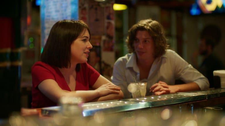 Emily Barclay as Viv and Benedict Samuel as Jasper in David Wenham's film Ellipsis.