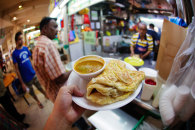 A roti stall at a hawker centre in Singapore's Little India.