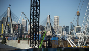 Tunnelling on the Rozelle Interchange has reached 60 per cent.