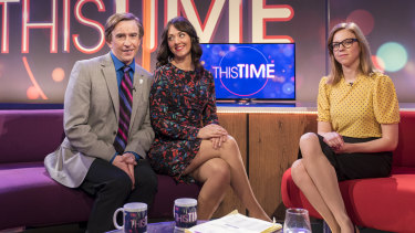 Steve Coogan plays TV talk show host Alan Partridge on This Time.