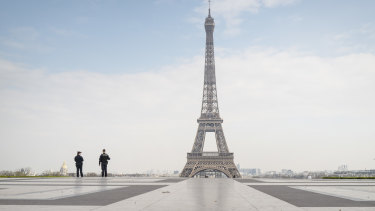 Paris has been largely locked down as the virus spreads across France.