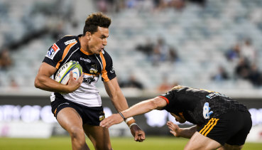 Brumbies fullback Tom Banks scored a superb try against the Chiefs at Canberra Stadium on Saturday.