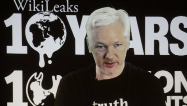 WikiLeaks founder Julian Assange in 2016.