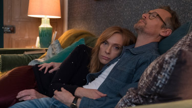 Toni Collette and Steven Mackintosh in Wanderlust.