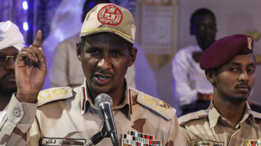 General Mohammed Hamdan Dagalo, better known as Hemedti, deputy head of the military council that assumed power in Sudan after the overthrow of president Omar al-Bashir.