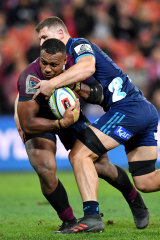'Wrecking ball': Samu Kerevi in action for the Reds in what will be his last season at Ballymore.