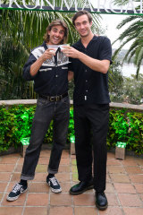 Matt Ford (left) with Jack Steele at the Patron International Margarita Day party.