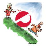 On a roll: former Australia Post chief Christine Holgate and PM Scott Morrison.