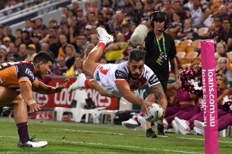 Dragons player Jordan Pereira was charged by the NRL Judiciary for a high tackle during round six.