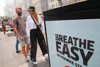 Melburnians donned masks on Tuesday.