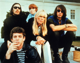 Nico, centre, with fellow Velvet Underground members, from left, Lou Reed (front), John Cale,  Maureen Tucker and Sterling Morrison.