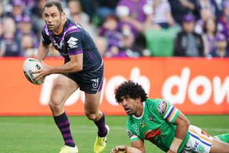 Play on: Storm captain Cameron Smith.