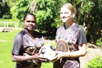 Marcey Garrawurra and Clessae Desatge from the NT Yapas.