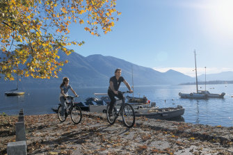 lake Maggiore is a popular tourist draw, which had only just reopened after Italy's waves of coronavirus restrictions.