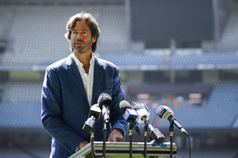 AFL CEO Gillon McLachlan at Marvel Stadium on Friday.
