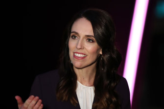 Ahead in the polls: NZ Prime Minister Jacinda Ardern.