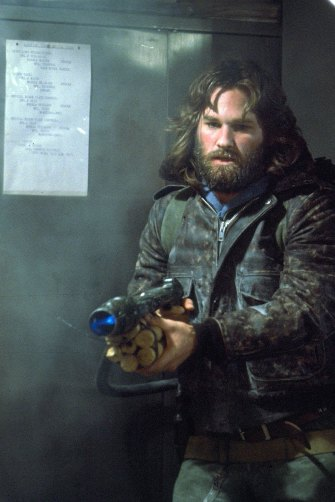 Kurt Russell in the 1982 movie The Thing, which conjured a sense of obscure danger – as pandemics also do.
