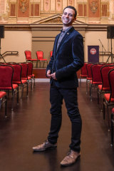 Melbourne Fringe artistic director Simon Abrahams at Trades Hall's freshly renovated New Council Chambers.