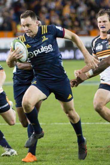 Ben Smith in action for the Highlanders this season.
