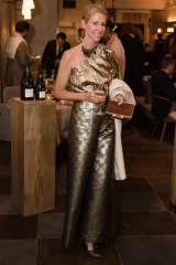 Cheers! Heidi Middleton had much to celebrate at the Bollinger dinner in Paddington on Wednesday night.