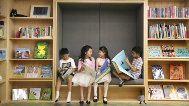 The State Library of NSW's new children's space will house up to 20,000 books, but strictly no screens.