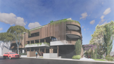 An artist's impression of the plan for a six-level apartment block to be built next to CERES Environment Park.