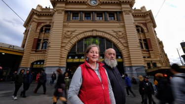 Author Jenny Davies and lifelong Melburnian Mark Reed would like the ballroom re-opened for public use.
