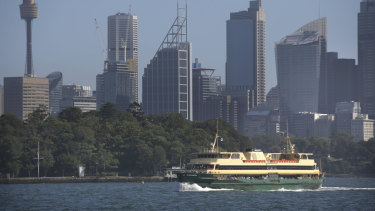 The Narrabeen sails to Manly from Circular Quay on Sunday.