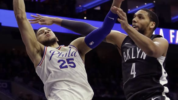 Simmons posts double-double as 76ers edge closer to NBA play-offs