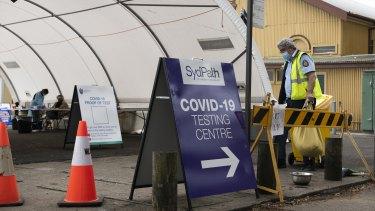 SydPath covid-19 testing clinic at Rushcutters Bay, September 18, 2021. Photo: Rhett Wyman/SMH