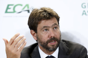 Andrea Agnelli has been named vice-chairman of the Super League.