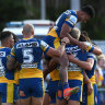 As it happened: Eels eliminate Knights off the back of controversial penalty try