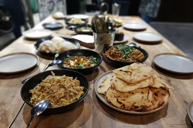 Asylum seekers held a charity dinner to show guests what they learnt during the four-day intensive training program.
