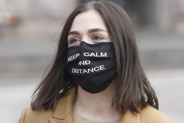 """""""Weird"""" is most often used when walking down the street and spotting someone wearing a mask."""